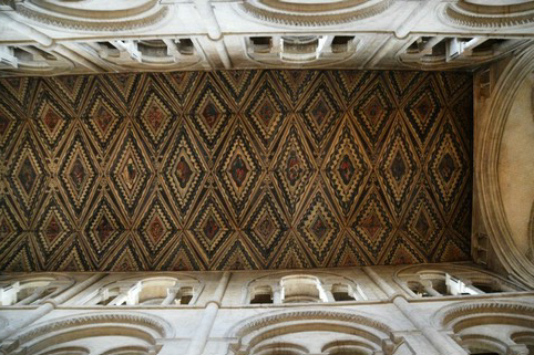 Painted ceiling of Nave